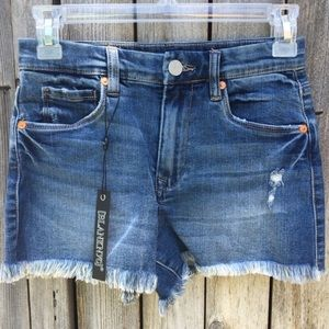 NWT Blank NYC The Lenox High Rise Denim Short 25